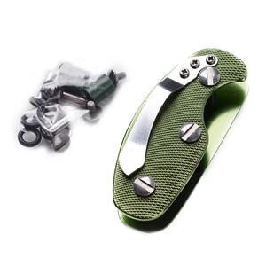 Image 5 - 다기능 야외 키 주최자 포켓 키 홀더 키 바 EDC 도구 휴대용 접는 키 체인 알루미늄 키 바