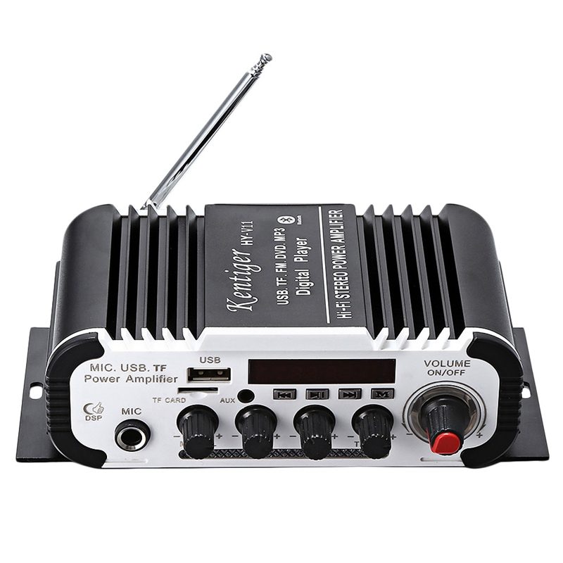 Kentiger Hy - V11 Bluetooth <font><b>Amplifier</b></font> 2-Channel Super Bass <font><b>Audio</b></font> <font><b>Amplifier</b></font> With Remote Controller Tf Usb Fm 85Db Mp3 Fm Radio image