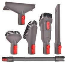 New Hot 6-Pcs Attachment Kit Brush Tool For Dyson V7 V8 V10 For Dyson Vacuum Cleaner Mattress Tool Crevice Tool Nozzle Dyson P dyson tool kit