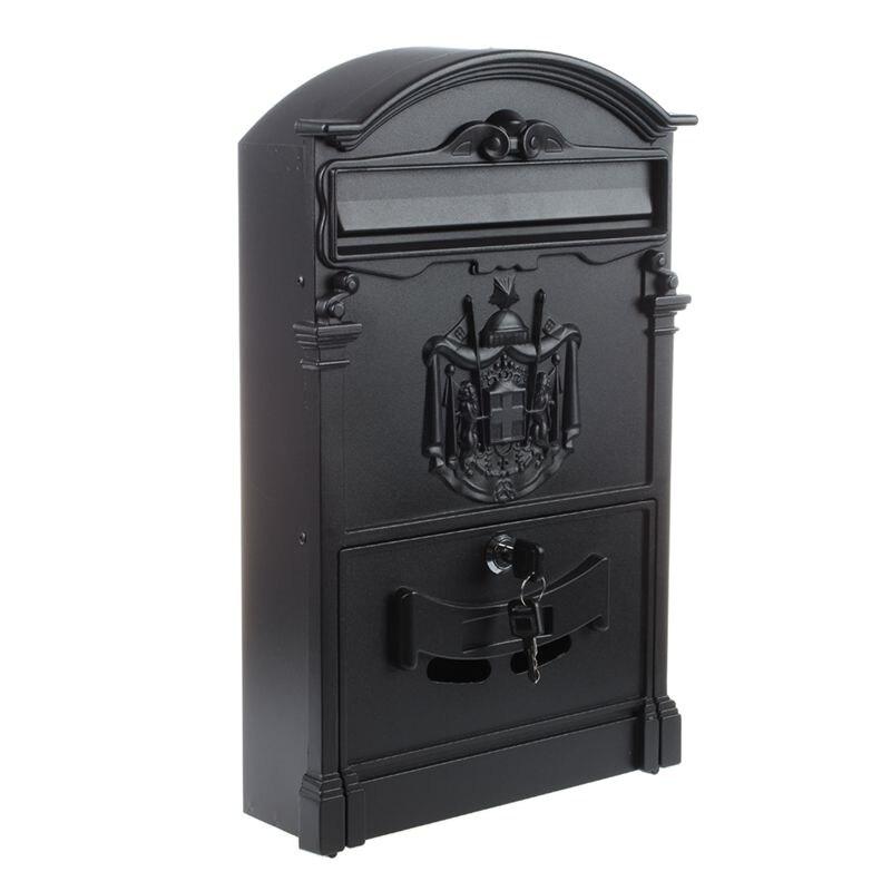 Heavy Aluminium Lockable Secure Mail Letter Post Box Mailbox Postbox Retro Vintage Metal Mail Box Garden