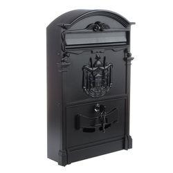 Тяжелый алюминиевый запираемый безопасный почтовый ящик ретро винтажный металлический почтовый ящик садовое украшение