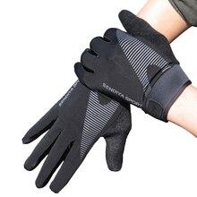 Нескользящие перчатки для рыбалки на весь палец, защита от солнца, перчатки для сенсорного экрана, мужские перчатки для занятий спортом на открытом воздухе, велоспорта, пеших прогулок