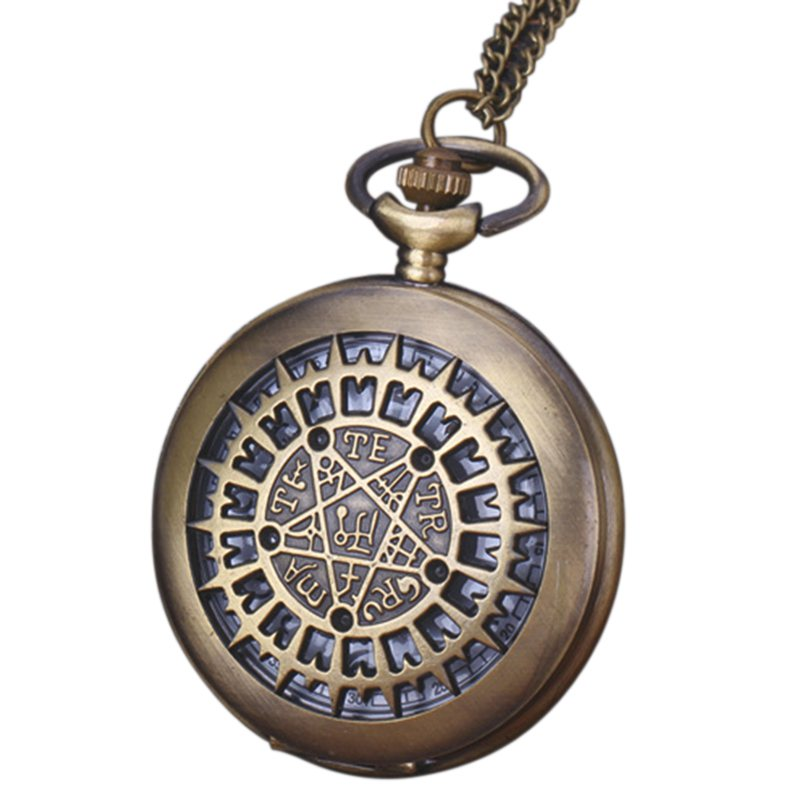Large Creative Necklace Watch Pocket Watch Retro Pocket Watch Star Table Pentagram Table