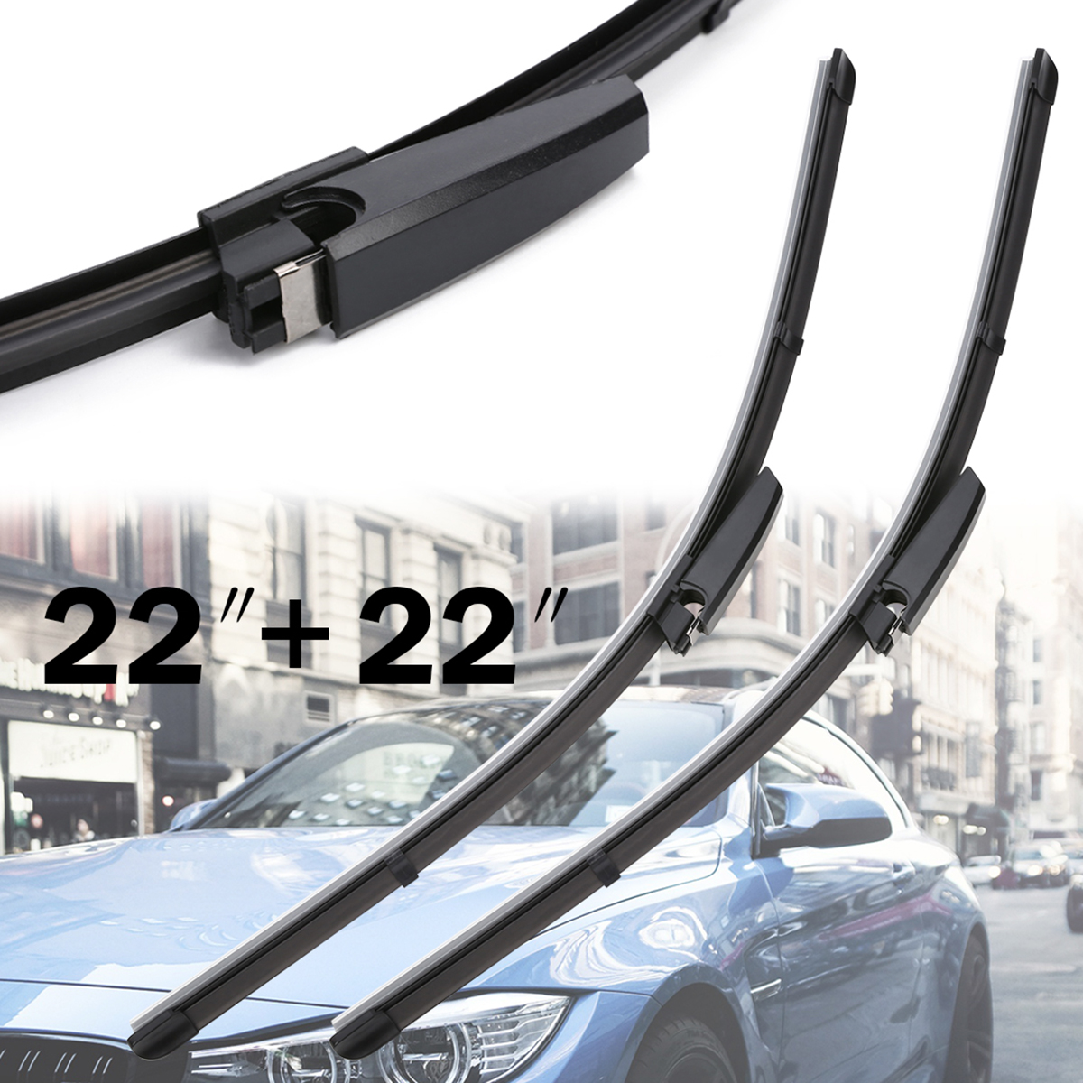 For Audi A4 B6 B7 S4 RS4 A6 C5 2pcs 22 Front Window Windshield Wiper Blade High Grade Natural Rubber Wiper Mayitr