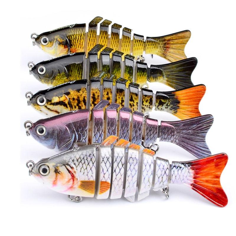 1PCS Fishing Lure 10 cm 15.5 g 3D eyes 6 Segment Lifelike fishing hard Lure Crankbait With 2 hooks fishing Lure