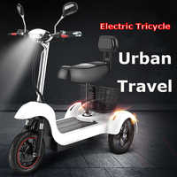 Daibot Electric Tricycle Scooter Three Wheel Electric Scooters 12 inch 48V 500W Portable Electric Scooter Adults With Two Seat