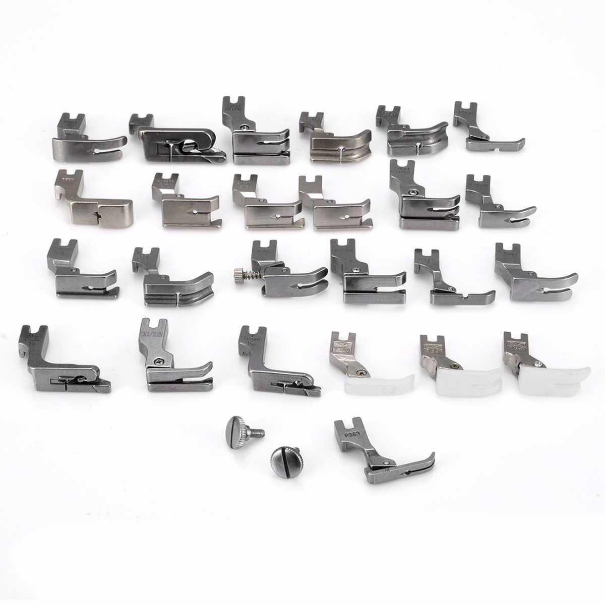 25pcs Mini Presser Foot Feet Set for JUKI DDL-5550 8500 8700 Industrial Sewing Machine Accessories