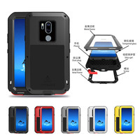 For LG G7 ThinQ Waterproof Dustproof Case Hard Shockproof Aluminum Metal Cover for G G7 G 7 ThinQ Plus 6.1 Full Cover Protector