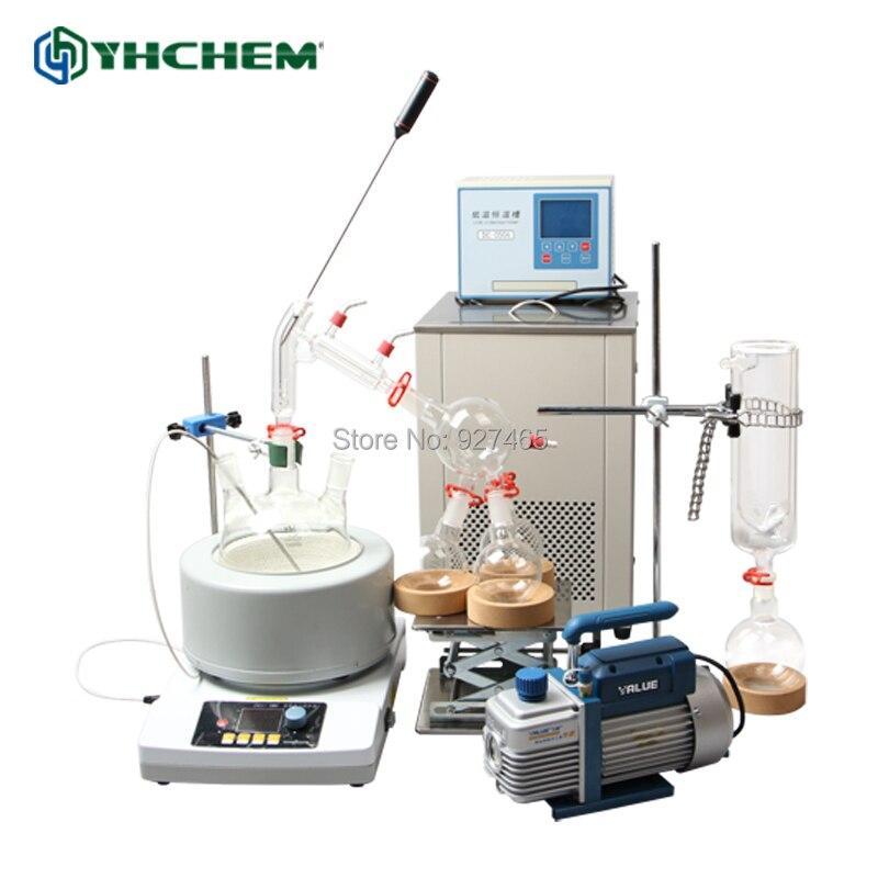YHChem nouveau 5L YHSP5000 Kit d'évaporateur à chemin court moléculaire fractionné bon prix