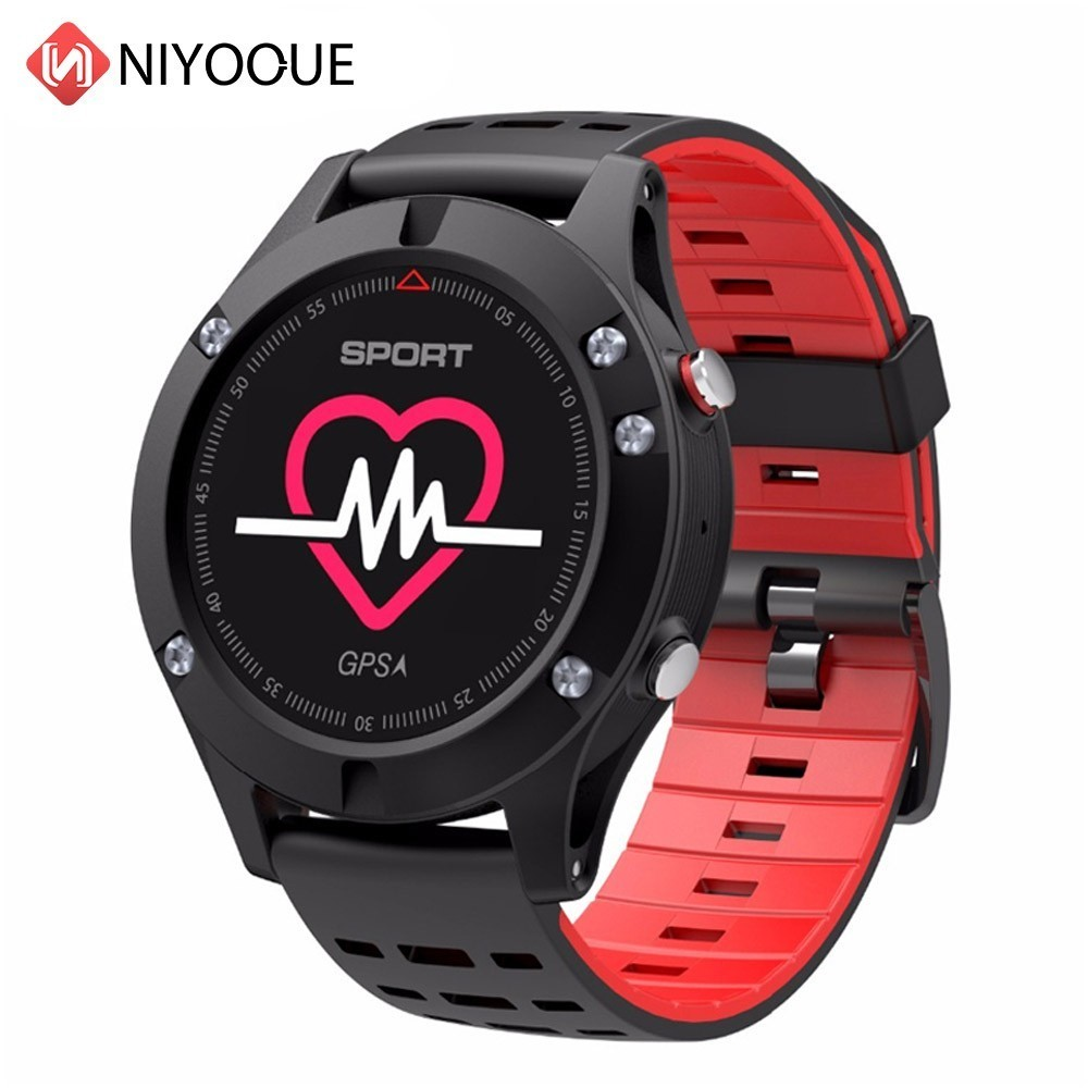 NIYOQUE F5 GPS Smart Watch Bluetooth 4.2 Wearable Devices Smartwatch Altimeter Barometer Thermometer Sport Watch Ios Android-in Smart Watches from Consumer Electronics    1