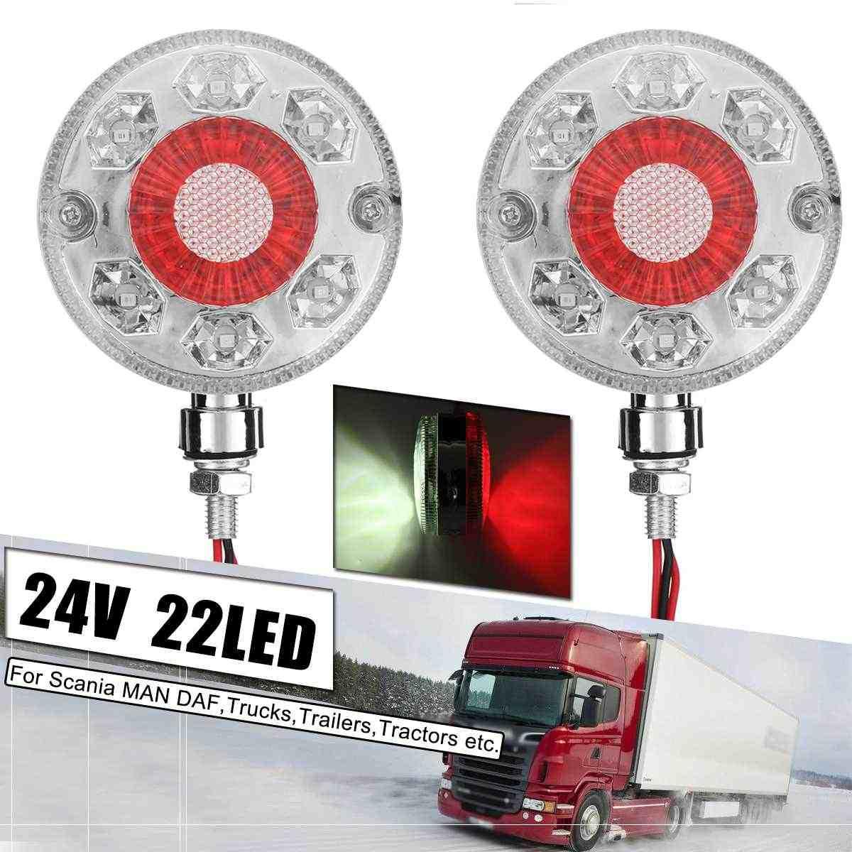 2 PCS WHITE SIDE MARKER ROOF LAMP CORNER 12//24V FOR DAF MAN IVECO SCANIA ISUZU