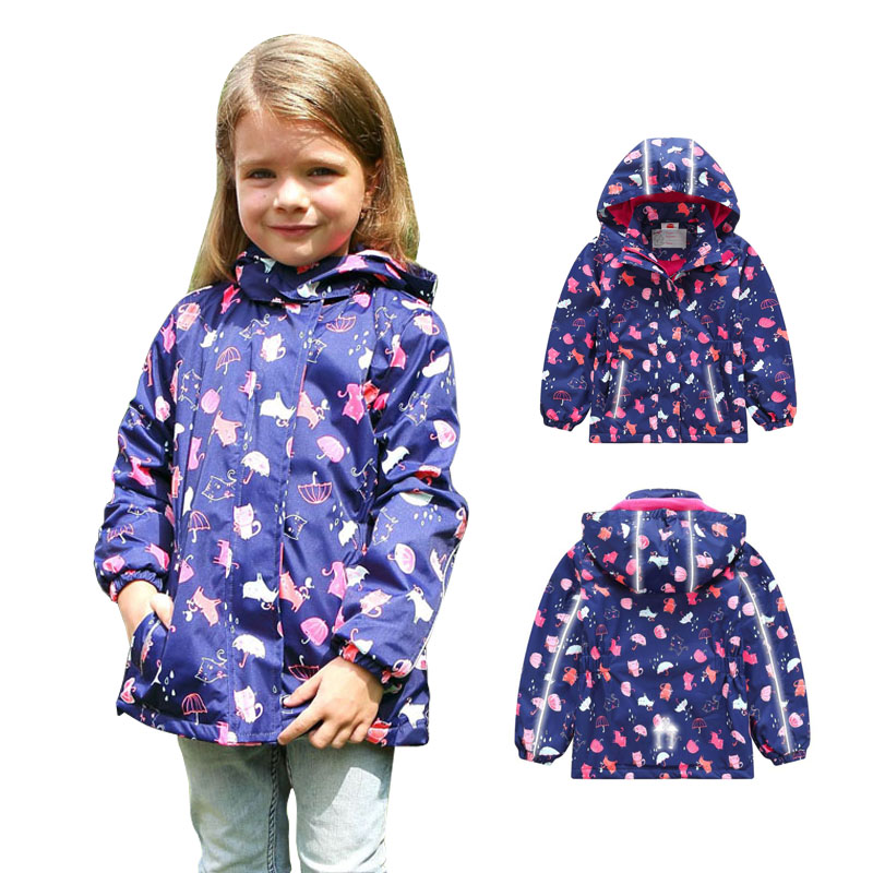 2019 Spring Autumn Winter Girls Coats Girl Jacket Kid Sport Casual Children Polar Fleece Jackets Double-deck Waterproof Jackets