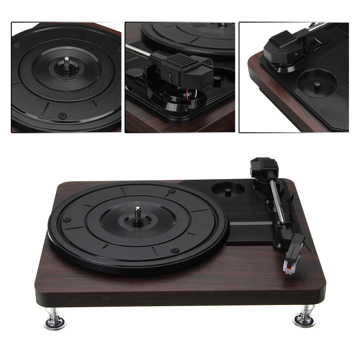 Tragbares Audio & Video Unterhaltungselektronik 33 Rpm Kunststoff Rekord Retro Player Portable Audio Grammophon Plattenspieler Disc Vinyl Audio Rca R/l 3,5mm Ausgang Out Usb Dc 5 V