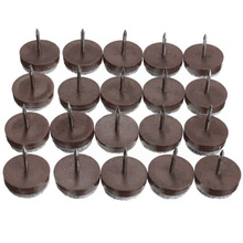 20x Furniture Table Chair Leg Floor Felt Pad Skid Glide Slide Nail Protect New недорого