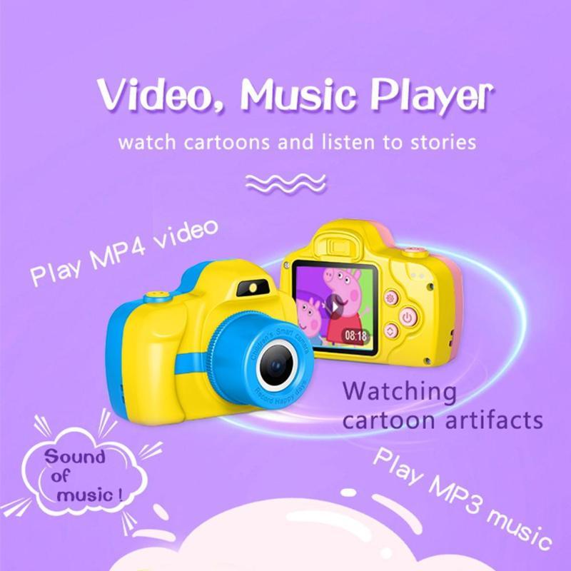 1.5 pouces DSLR Mini caméra HD Portable appareil photo numérique pour enfants bébé mignon dessin animé multifonction jouet appareil photo enfants meilleur cadeau - 4