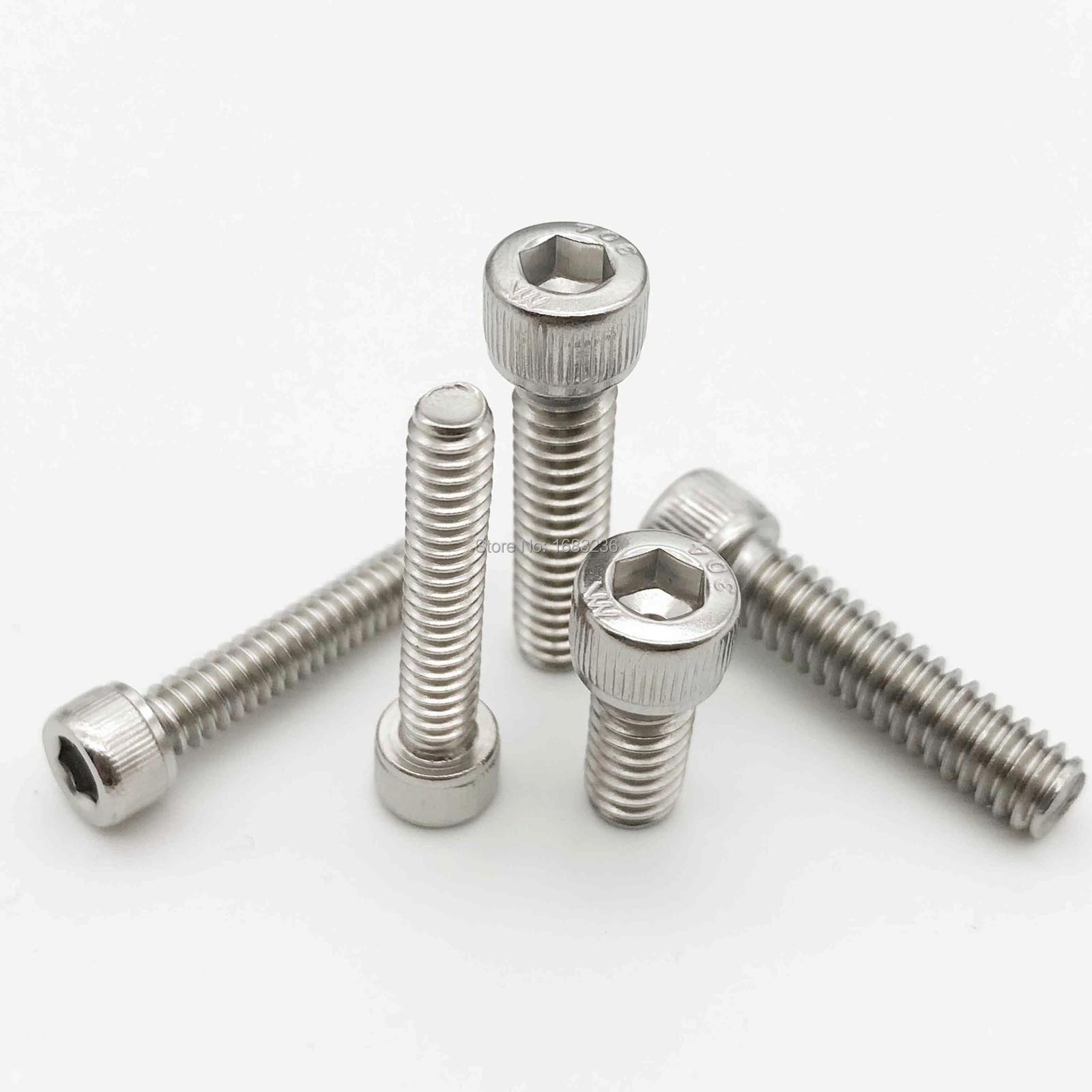 "1//4-20 X 1-1//2/"" Stainless steel socket allen head knurled bolts 10Pcs"