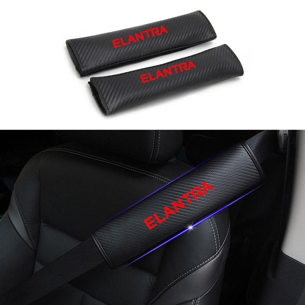 Custom for TOYOTA yaris corolla camry RAV4 highlander Seat Belt Cover Carbon Fiber Texture Car Safety Seat Belt Pads Shoulder Strap Cover with Reflective Sticker 2pcs