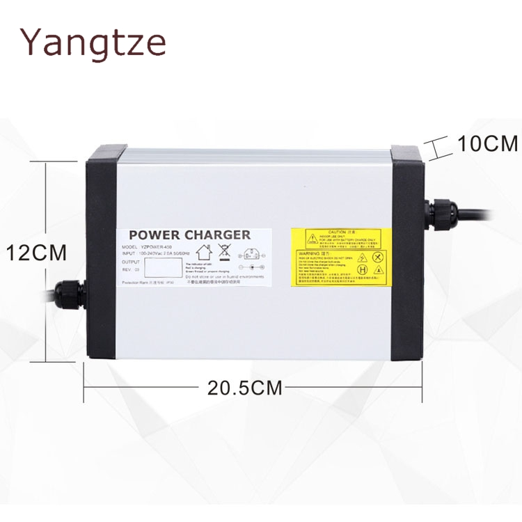 Yangtze Auto Stop 42V 18A 17A 16A 15A Lithium Battery Charger For 36V Li Ion Lipo