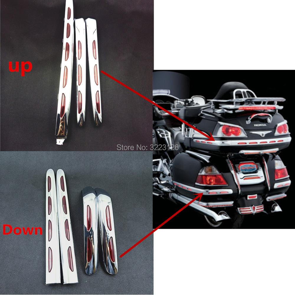 Motorcycle Fairing Lens Trunk Moldings Saddlebag Tail Box Decoration For Honda Goldwing GL 1800 GL1800 2001-2011 High Quality