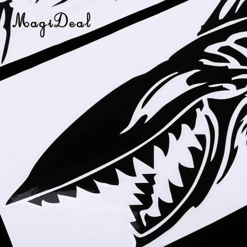 2pcs durable large skeleton fish bone stickers decals for kayak canoe fishing boat dinghy car truck