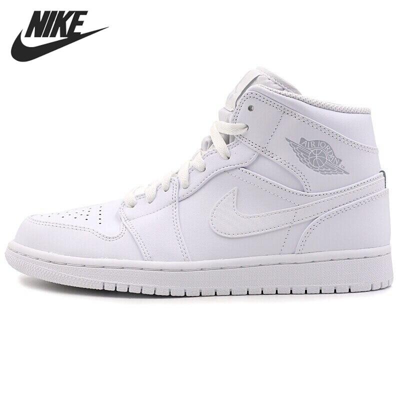 138b5b85 Nike Air Jordan 1 Mid AJ1 MID оригинальный Новое поступление Для мужчин;  дышащие баскетбольные кроссовки