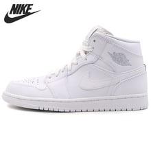 hot sale online ab6fc 3b583 Nike Air Jordan 1 medio Original nueva llegada zapatos de baloncesto de los  hombres de deportes al aire libre zapatillas  554724
