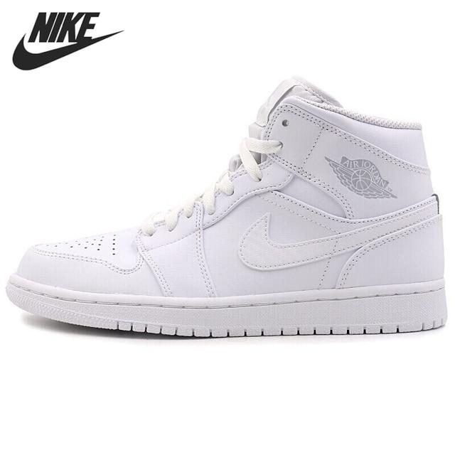huge discount 9a644 8815f Nike Air Jordan 1 Mid AJ1 MILIEU D origine nouveauté basketball pour hommes  Chaussures Respirant