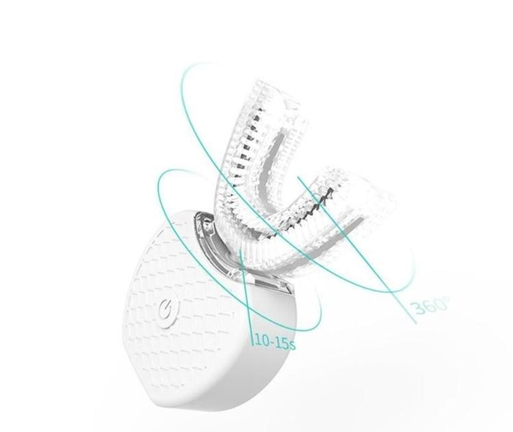 360 Degree U Shape Ultrasonic Toothbrush USB Wireless Charge Hands-Free Tooth Brush Teeth Clean Massage Whitening