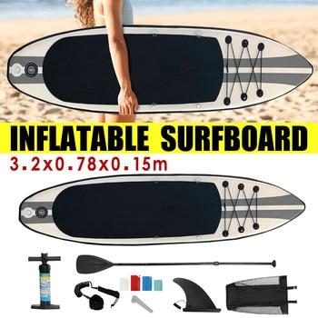 1ec8bde92 320x78x15 centímetros Prancha Inflável 2019 Prancha de Stand Up Paddle Surf  Board de Desportos Aquáticos Sup Board + bomba de Ferramentas de Corda de  ...