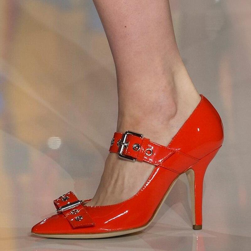 f5bf636f Punta Banquete Picture Tacones Rojo As Hebilla Janos Vestido Negro Altos  Mary Stiletto as Mujer Sexy Decoración Zapato ...