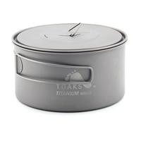 TOAKS POT 900 D130 Ultralight Titanium Pot with Heat resistant folding handles Portable Pot with a mesh storage sack