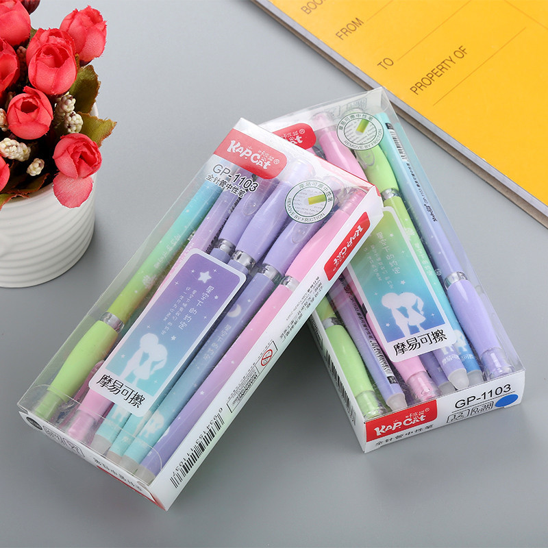 0 38mm Kawaii Erasable Pens For School Office Supplies Magic ink Creative Gel Pen New Best selling Cute Student Stationery Store in Gel Pens from Office School Supplies