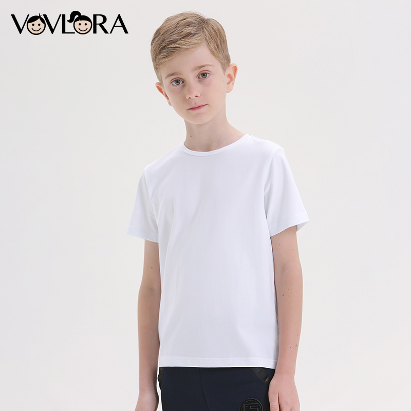 White Cotton Summer Boys T Shirt Tops Knitted Sports School Kids Boys Tees Children Clothes 2018 Size 7 8 9 10 11 12 13 14 Years цена