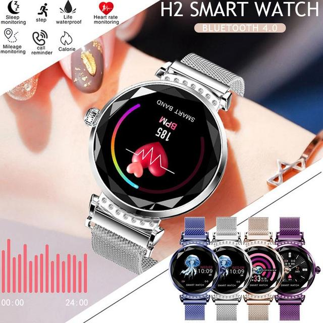 Newest Fashion H2 Women Smart Watch Android Bluetooth Fitness Tracker Heart Rate Blood Pressure For Miyou Sport Smartwatch
