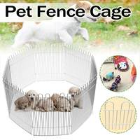 8 Panel Foldable Pet Dogs Cats Fence Run Playpen for Small Pets Puppy Rabbit Hamster Folding House Cage Play Pen Indoor/Outdoor