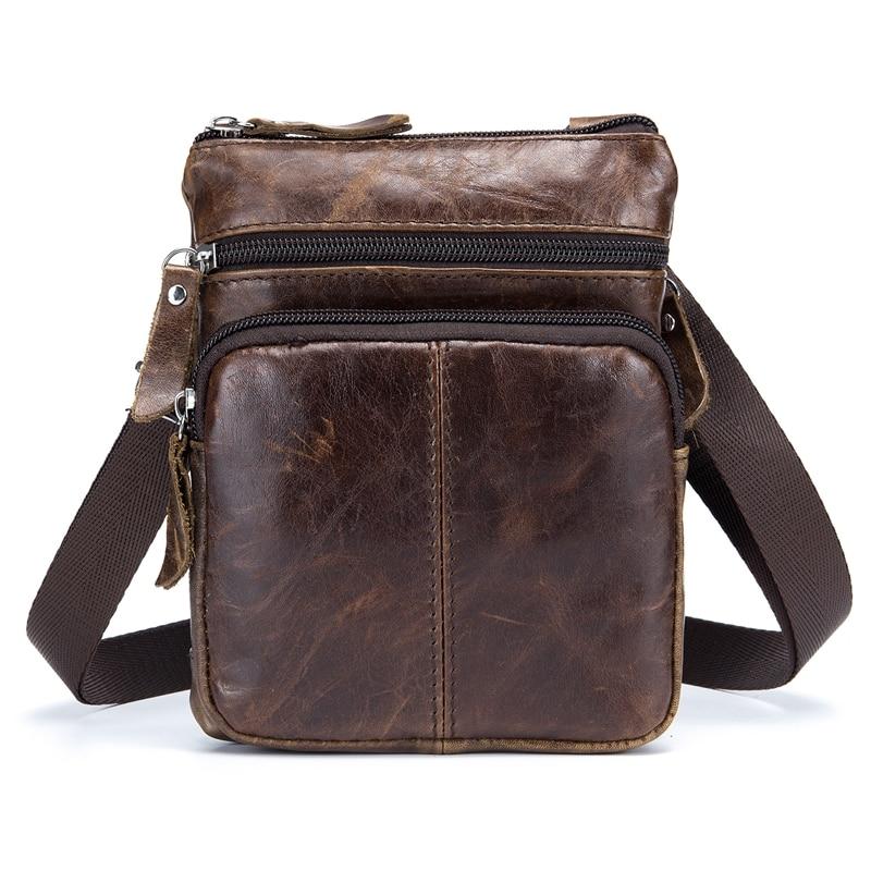 BULL CAPTAIN MEN'S FAMOUS BRAND Casual CROSSBODY BAGS MALE BAG FASHION GENUINE LEATHER MINI SHOULDER BAGS FOR MEN