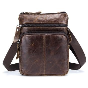 BULL CAPTAIN MENS FAMOUS BRAND casual CROSSBODY BAGS MALE BAG FASHION GENUINE LEATHER MINI SHOULDER FOR MEN