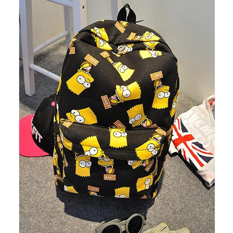 Pretty Canvas Backpack Cartoon Printing School Bags Casual For Teenager Girls Shoulder Bag Mochila Feminina Sac Travel Bags
