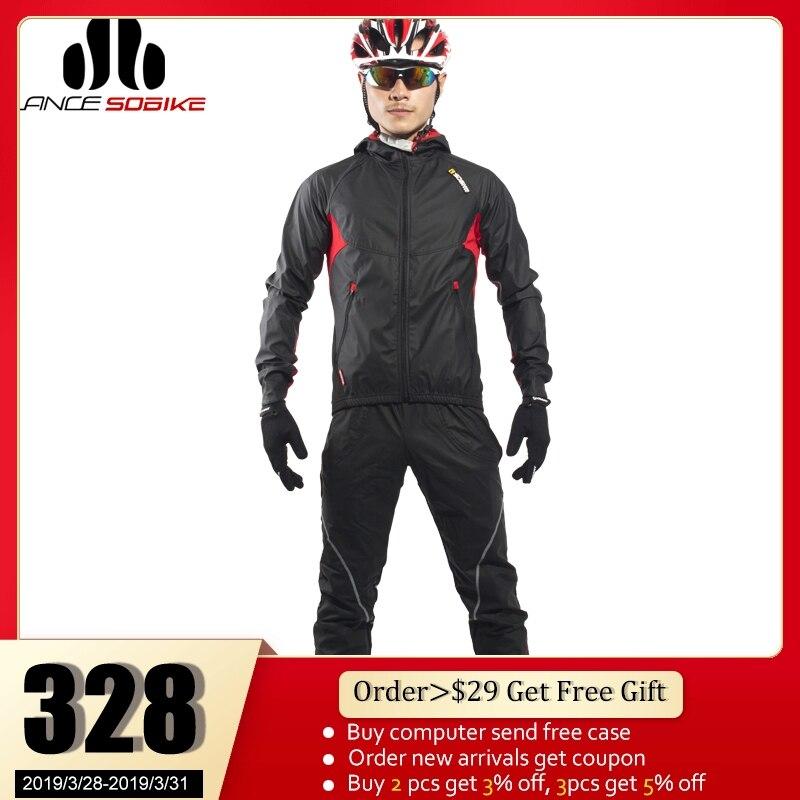SOBIKE Мужское Велоспортное Пальто Велосипедный Цикл Одежда С Длинным Джерси Куртка Штормовой Ветер Колготки Брюки Вихрь 6 размеров