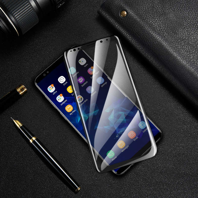 CASEIER pantalla película de vidrio Protector de la cubierta completa para Samsung Galaxy S10 S10E Plus Nota 8 9 Nueva 3D borde curvado capa de película de vidrio suave
