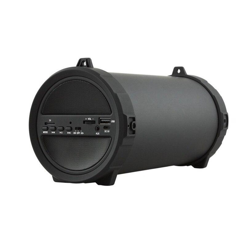 Alarm Draadloze Diepe Bas Bluetooth Outdoor Luidspreker Power Bank 10 W Grote Power Hifi Draagbare Usb Stereo Subwoofer Sound Box Matte Zwart