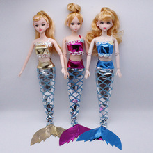 Girl Doll Handmade Party Dress Gown Mermaid Suit Skirt With Fin Fashion Clothes For Kids