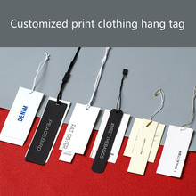 Customized print clothing hang tag 300gsm paper board garment swing hanging hand tags
