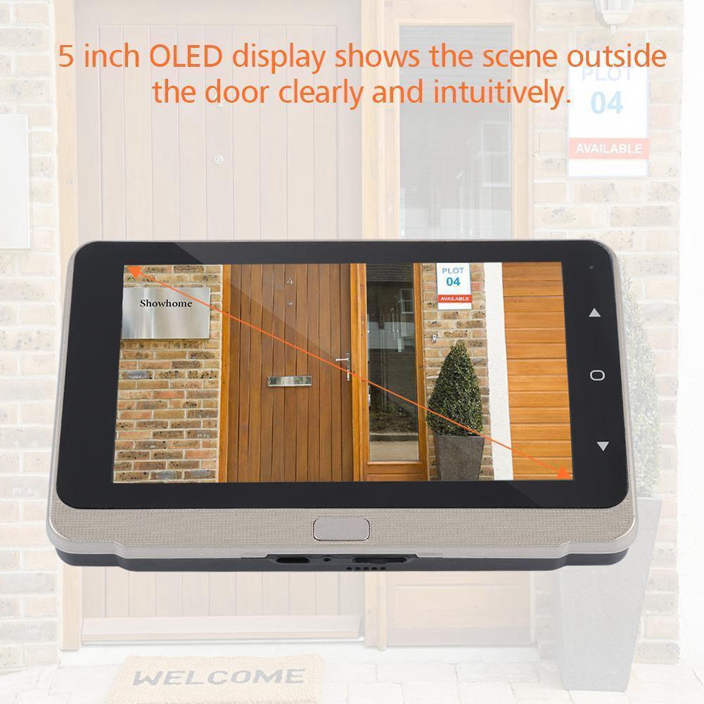 Nueva 5,0 pulgadas de pantalla OLED pantalla a Color timbre digitales puerta mirilla Cámara puerta Ojo de vídeo de ángulo ancho - 5
