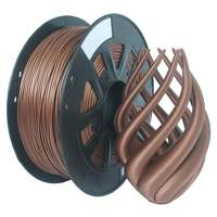 3D Printer Material 1.75mm 1KG Flexible Filament Printing Material Supplies Roll Metal Bronze Red Copper Filled Filament