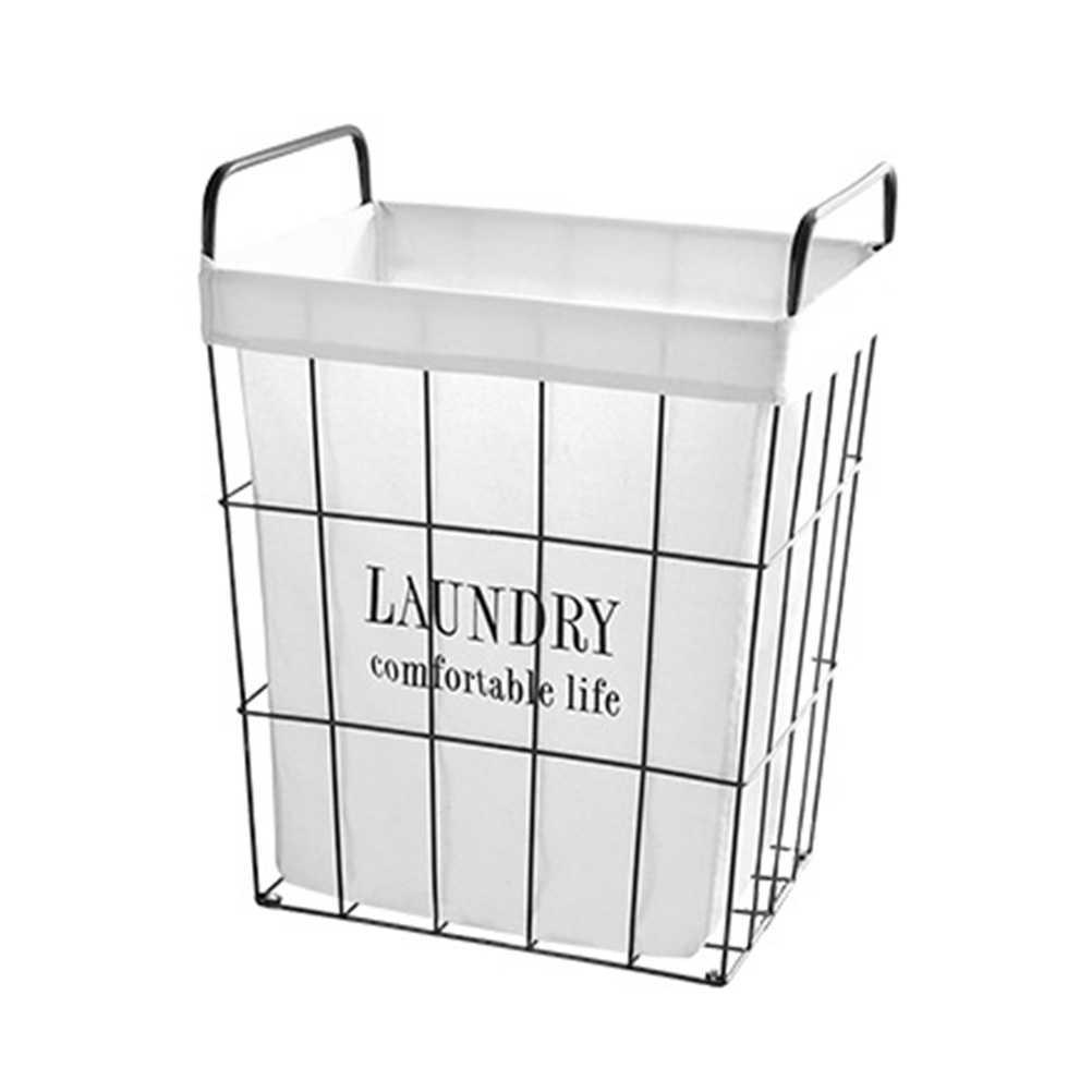 Ferro Retro Caixa De Armazenamento Cesto de roupa suja Cesta de Roupa Suja Cesto de Roupa Suja Organizador (Padrão Normal)