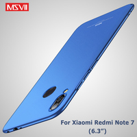 Redmi Note 7 Case MSVII Frosted Cover Voor Xiaomi Redmi Note 7 Pro Case Xiomi Note7 Global PC Cover Voor xiaomi Note 7 Telefoon Case
