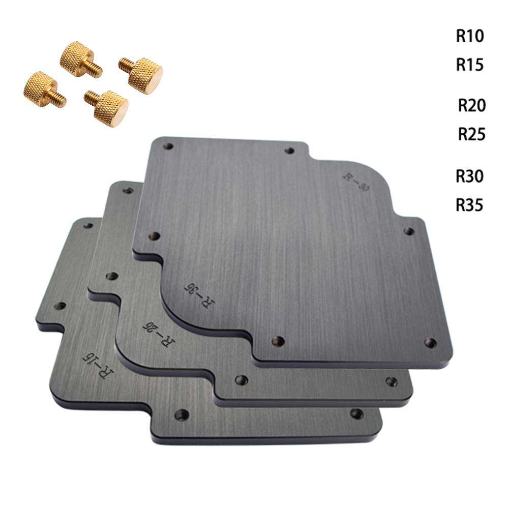 3pcs/set Woodworking Trimmer R Fillet Template Corner Radius Router Templat Tools For Carving Wood
