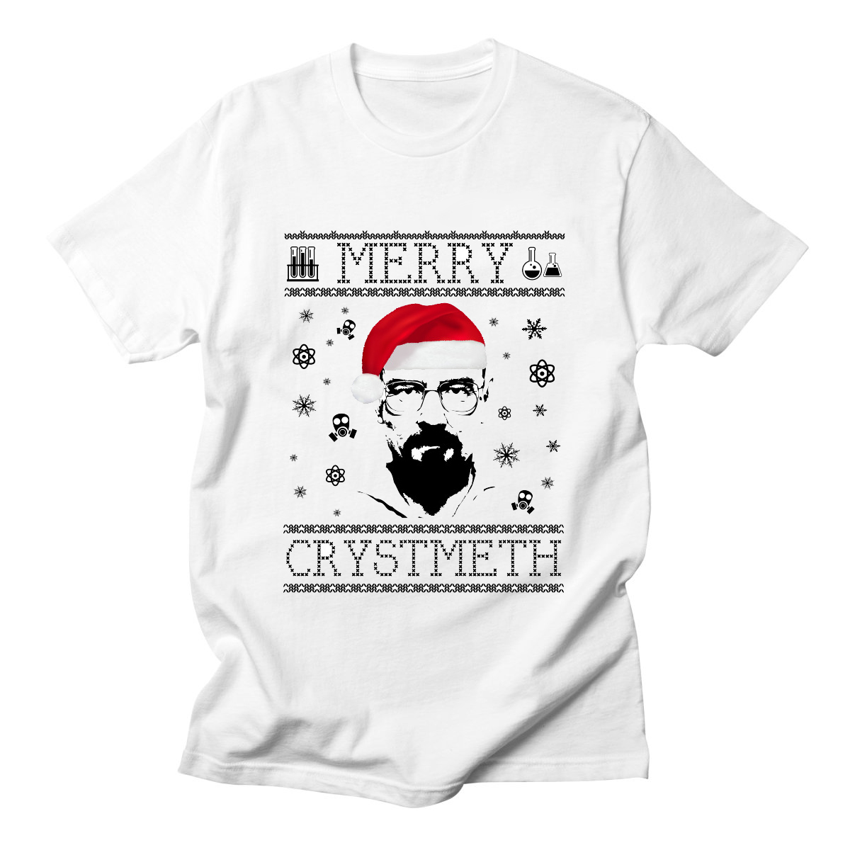 Christmas Breaking Bad T Shirts Heisenberg Walter White Mens Cotton Tees High Quality Funny O-Neck T-Shirts Casual image