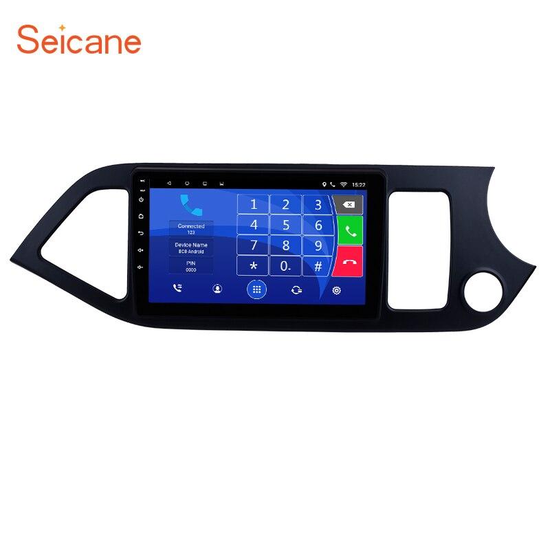 Seicane 2Din GPS Head Unit Multimedia Player For 2011 2012 2013 2014 KIA Picanto Morning Android 7.1/6.0 9 inch Car Radio цена